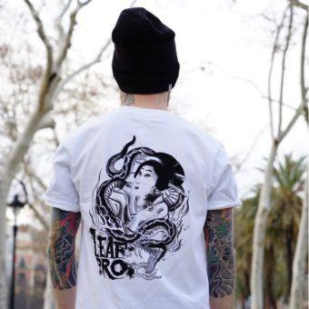 camiseta diseño geisha