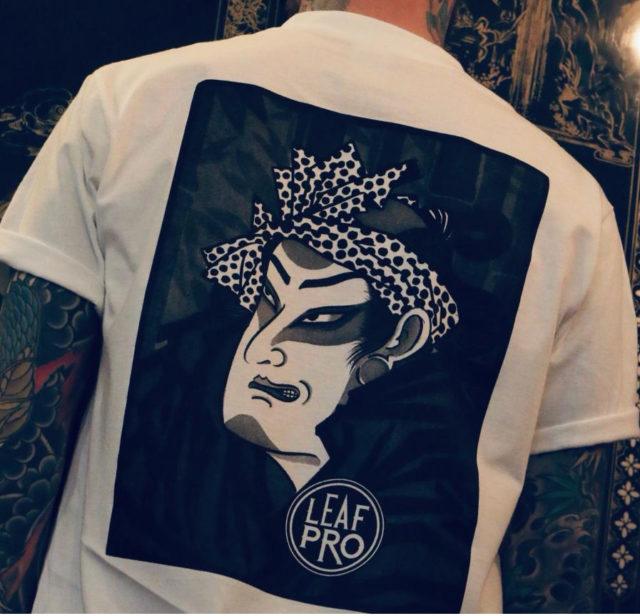 camiseta diseño samurai