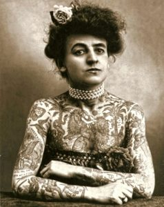 Maud wagner Firts woman tattoo artist american old school