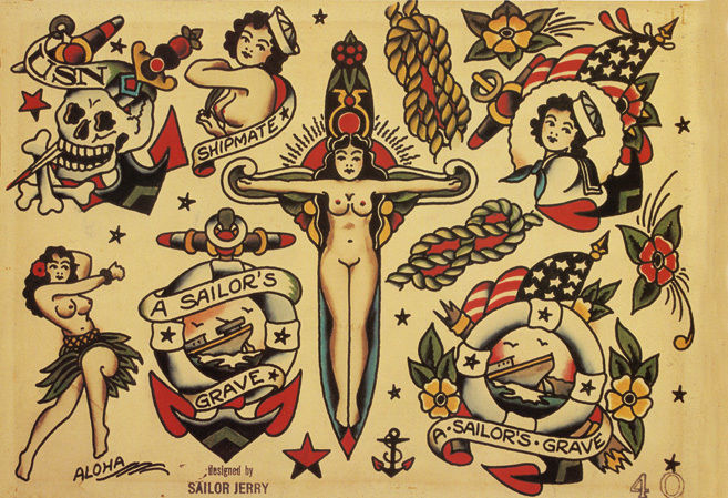 American traditional tattoo: Old School | LEAF PRO TATTO BALM